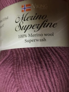 Merino superwash -gammelrosa